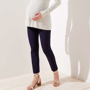 LOFT Maternity Skinny Ankle Pants Size 4 Black NEW